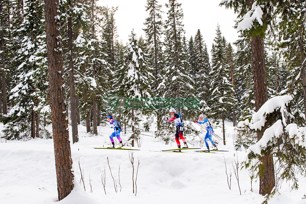 March 10, 2019 - –Stersund, Sweden - 190310 Ekaterina Yurlova Percht of Russia, Tiril Eckhoff of Norway and Kaisa Makarainen of Finland during the Women's 10 km Pursuit during the IBU World Championships Biathlon on March 10, 2019 in Östersund..Photo: Petter Arvidson / BILDBYRÃ…N / kod PA / 92254 (Credit Image: © Petter Arvidson/Bildbyran via ZUMA Press)
