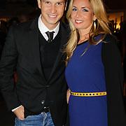 NLD/Amsterdam/20121013- LAF Fair 2012 VIP Night, Candy Dulfer en partner Bela Szenasi
