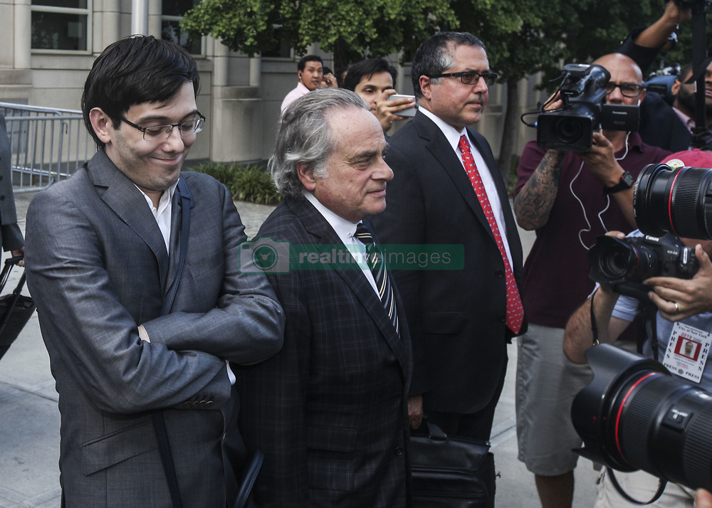 August 3, 2017 - Brooklyn, New York, U.S. - 'Pharma Bro' MARTIN SHKRELI, 34, leaves court after a jury fails to reach a verdict where faces up to 20 years in prison on security fraud charges at Brooklyn Federal Court on Thursday. The former biotech CEO, who was nicknamed 'Pharma Bro', is best known for hiking up the price of a life-saving drug.  (Credit Image: © Byron Smith via ZUMA Wire)