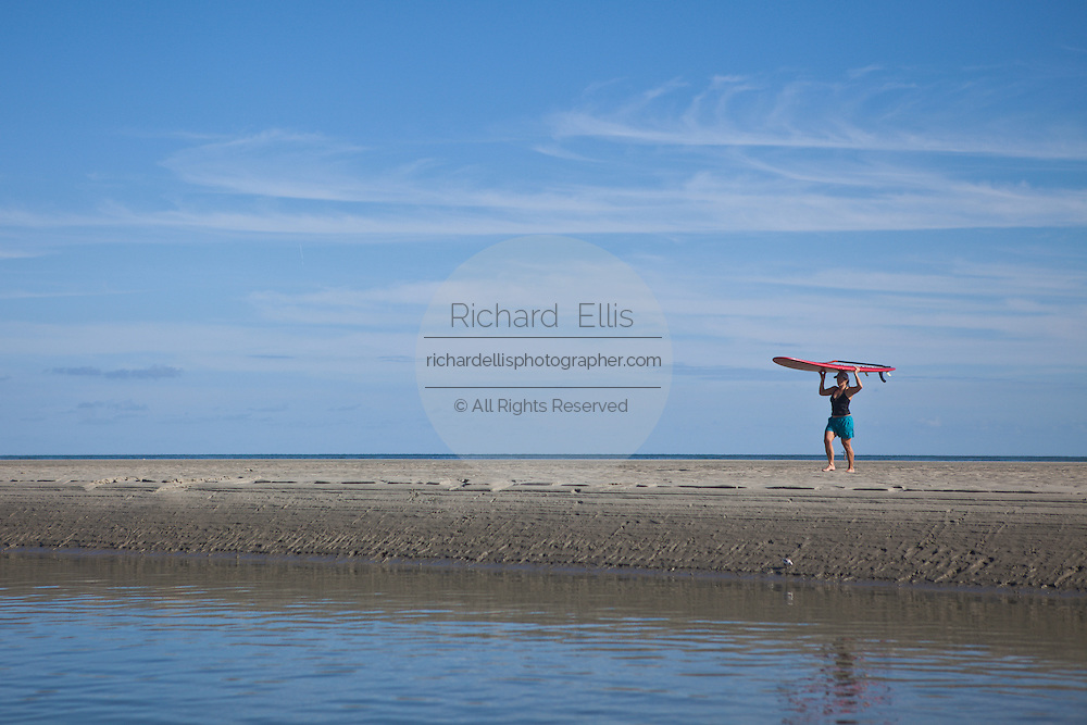 Stand Up Paddle boarding in Sullivan's Island, SC.