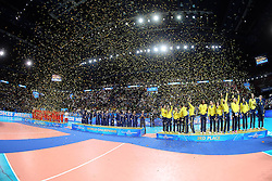PODIUM<br /> AWARDING CEREMONY<br /> VOLLEYBALL WOMEN'S WORLD CHAMPIONSHIP 2014<br /> MILAN 12-10-2014<br /> PHOTO BY FILIPPO RUBIN