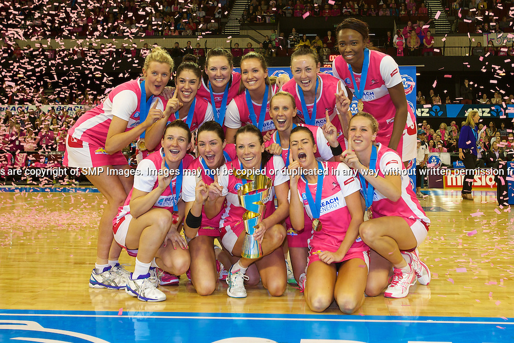 ADELAIDE THUNDERBIRDS - Action from the 2013 ANZ Championship Grand Final between the Adelaide Thunderbirds and Queensland Firebirds played at the Adelaide Entertainment Centre, Adelaide, South Australia, Sunday 14th July, 2013. [Photo: Ryan Schembri - SMP Images]
