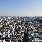 Vues de Paris depuis la terrasse de la Tour Saint Jacques à 50 mètres de haut.