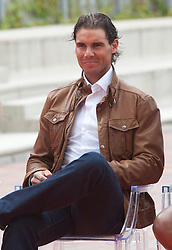 Rafael Nadal during the presentation of the Mutua Madrid Open tournament, Madrid. Spain, on 02 May 2013, 03 May 2013. Photo by: Belen D. / DyD Fotografos / i-Images...SPAIN OUT