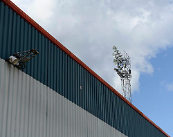 Floodlight at Rochdale, Spotland Stadium - Photo mandatory by-line: Dougie Allward/JMP - Mobile: 07966 386802 23/08/2014 - SPORT - FOOTBALL - Manchester - Spotland Stadium - Rochdale AFC v Bristol City - Sky Bet League One