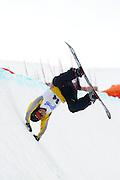 26th July 2003, Cardrona Ski field, Cardrona, New Zealand.  Burton NZ Open Snowboarding Championships.<br />Japan's Yukiko Kohara crashes during the Burton NZ Open.<br />Pic: Ollie Dale/Photosport