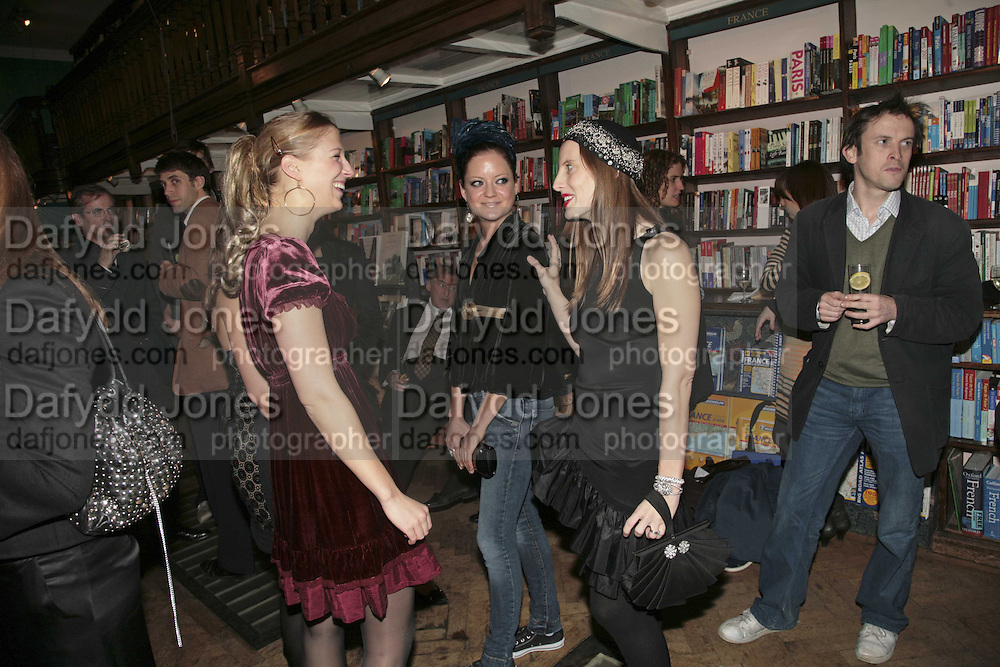 Lady Ella Windsor, Robert Denning and Liz Goldwyn, Book launch of Pretty Things by Liz Goldwyn at Daunt <br />Books, Marylebone High Street. London 30 November 2006.   ONE TIME USE ONLY - DO NOT ARCHIVE  © Copyright Photograph by Dafydd Jones 248 CLAPHAM PARK RD. LONDON SW90PZ.  Tel 020 7733 0108 www.dafjones.com