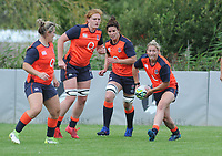 Rugby Union - pre-Women's Rugby World Cup - England Women Media Day<br /> <br /> l-r Marlie Packer, Harriet Millar - Mills Sarah Hunter, Natsha Hunt with ball, at Lensbury Hotel.<br /> <br /> COLORSPORT/ANDREW COWIE