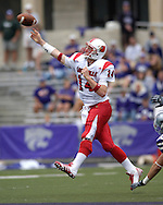 Louisville quarterback Hunter Cantwell fires the ball down field against Kansas State at Bill Snyder Family Stadium in Manhattan, Kansas, September 23, 2006.  The 8th ranked Louisville Cardinals beat K-State 24-6.