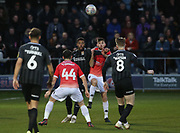 Vadaine Oliver of Northampton(left) in action during the EFL Sky Bet League 2 match between Salford City and Northampton Town at the Peninsula Stadium, Salford, United Kingdom on 11 January 2020.