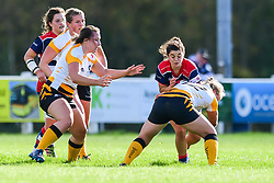 Caity Mattinson of Bristol Ladies is tackled by Lousie Dodd of Wasps Ladies - Mandatory by-line: Craig Thomas/JMP - 28/10/2017 - RUGBY - Cleve RFC - Bristol, England - Bristol Ladies v Wasps Ladies - Tyrrells Premier 15s