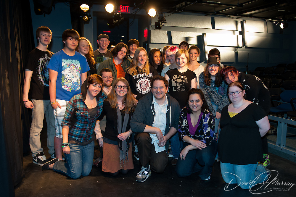 Members of Cocheco Arts and Technology Academy with The Second City members Barry Hite and Eileen Montelione in an Improv master class at The Music Hall Loft in Portsmouth, NH