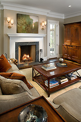 fireplace. 1900 Virginia Ave. McLean, VA contractor JK developement Home Living Room