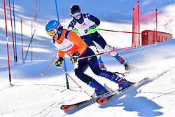 FITZPATRICK Menna, Guide: KEHOE Jennifer, B2, GBR, Slalom at the WPAS_2019 Alpine Skiing World Cup Finals, Morzine, France