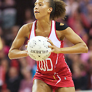 Serena Guthrie, England, in action during the New Zealand V England, New World International Netball Series, at the ILT Velodrome, Invercargill, New Zealand. 6th October 2011. Photo Tim Clayton...