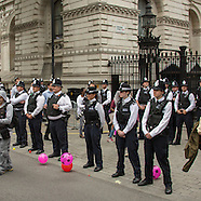 8 July 2015 - Budget day protests outside Downing Street