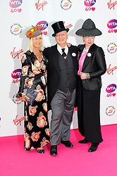 Wimbledon Party<br /> (L) Virginia Bates and (C) Stephen Jones attends the annual pre-Wimbledon party at Kensington Roof Gardens,<br /> London, United Kingdom<br /> Thursday, 20th June 2013<br /> Picture by Chris  Joseph / i-Images