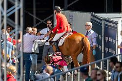 VERLOOY Jos (BEL), IGOR<br /> Rotterdam - Europameisterschaft Dressur, Springen und Para-Dressur 2019<br /> Longines FEI Jumping European Championship - Second Qualifying Competition<br /> Team Final Round 1<br /> 2. Qualifikation - Team Finale 1. Runde<br /> 22. August 2019<br /> © www.sportfotos-lafrentz.de/Dirk Caremans