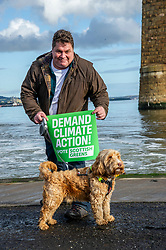 Pictured: Candidate David Nairne and Dougie the dog<br />
