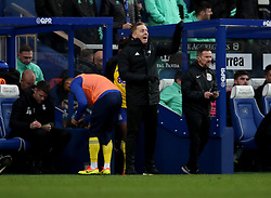 Birmingham City manager Garry Monk during the Sky Bet Championship match at Loftus Road London