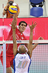 07.09.2014, Krakow Arena, Krakau, POL, FIVB WM, Iran vs Puerto Rico, Gruppe D, im Bild SHAHRAM MAHMOUDI // during the FIVB Volleyball Men's World Championships Pool D Match beween Iran and Puerto Rico at the Krakow Arena in Krakau, Poland on 2014/09/07. <br /> <br /> ***NETHERLANDS ONLY***