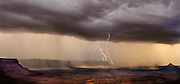 Lightning storm, Squaw Flat & Six Shooter Peaks, Needles District, Canyonlands