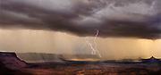 Lightning storm, Squaw Flat & Six Shooter Peaks, Needles District, Canyonlands