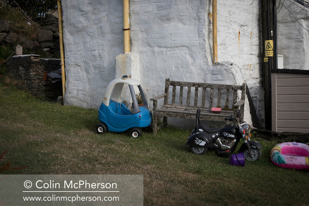 'Children's toys, 2018' from Colin McPherson's project 'Treasured Island' part of the Document Scotland exhibition entitled 'A Contested Land' which will launch at the Martin Parr Foundation, Bristol, on 16th January, 2019. McPherson's work was made in 2018-2019 on Easdale, the smallest permanently inhabited Inner Hebridean island and looks at the historical legacy of the island, once world famous for its slate mining industry.<br /> <br /> Photograph © Colin McPherson, 2018 all rights reserved.