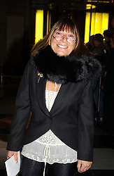 Fashion writer HILARY ALEXANDER at the 2004 British Fashion Awards held at Thhe V&A museum, London on 2nd November 2004.<br /><br />NON EXCLUSIVE - WORLD RIGHTS