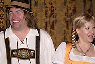 """Jerry (left) and Tamra Francis during Mayhem & Mystery's production of """"Festival Fracas"""" at the Spaghetti Warehouse in downtown Dayton, Monday, September 27, 2010."""