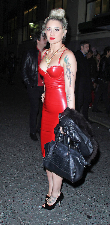 © Licensed to London News Pictures. 19/02/2014, UK. Katie Weissel, The BRIT Awards 2014 - Warner Music After Party, The Savoy, London UK. Photo credit : Brett D. Cove/Piqtured/LNP