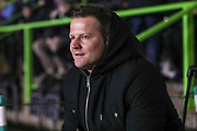 Forest Green Rovers manager, Mark Cooper during the EFL Sky Bet League 2 match between Forest Green Rovers and Mansfield Town at the New Lawn, Forest Green, United Kingdom on 29 January 2019.
