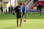 Watford forward Troy Deeney  during the The FA Cup fourth round match between Nottingham Forest and Watford at the City Ground, Nottingham, England on 30 January 2016. Photo by Simon Davies.