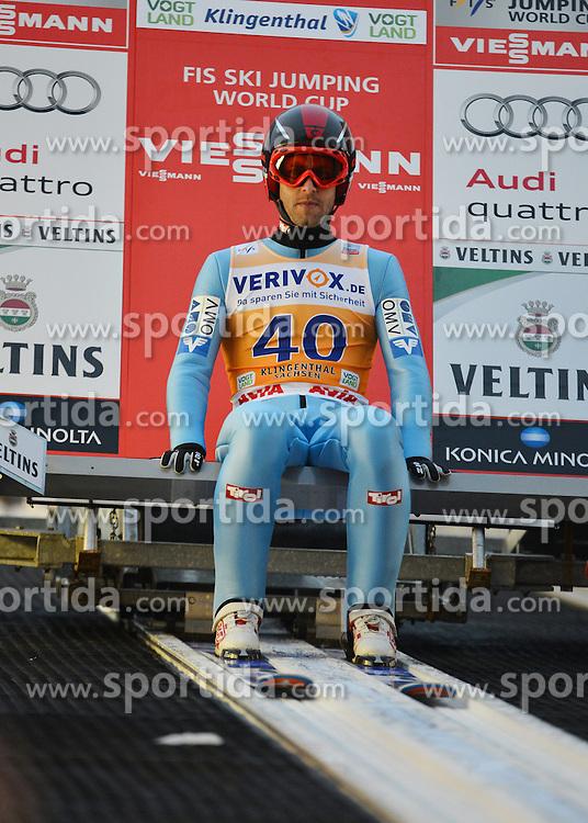 21.11.2014, Vogtland Arena, Klingenthal, GER, FIS Weltcup Ski Sprung, Klingenthal, Herren, HS 140, Qualifikation, im Bild Wolfgang Loitzl (AUT) // during the mens HS 140 qualification of FIS Ski jumping World Cup at the Vogtland Arena in Klingenthal, Germany on 2014/11/21. EXPA Pictures &copy; 2014, PhotoCredit: EXPA/ Eibner-Pressefoto/ Harzer<br /> <br /> *****ATTENTION - OUT of GER*****