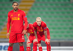 06.12.2012, Stadio Friuli, Udine, ITA, UEFA EL, Udinese Calcio vs FC Liverpool, Gruppe A, im Bild Glen Johnson (# 02, Liverpool FC), Martin Skrtel (# 37, Liverpool FC) // during the UEFA Europa League group A match between Udinese Calcio and Liverpool FC at the Stadio Friuli, Udinese, Italy on 2012/12/06. EXPA Pictures © 2012, PhotoCredit: EXPA/ Juergen Feichter