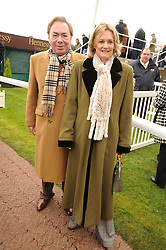 LORD & LADY LLOYD-WEBBER at the 2008 Hennessy Gold Cup held at Newbury racecourse, Berkshire on 29th November 2008.<br /> <br /> NON EXCLUSIVE - WORLD RIGHTS