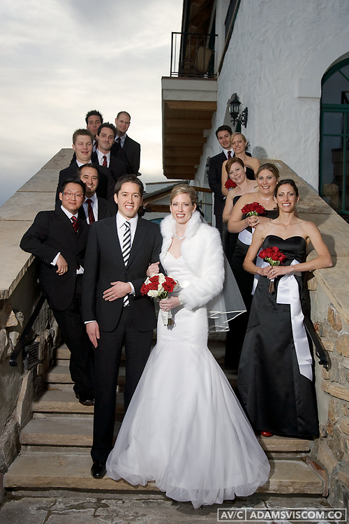 Jerimiah Pomerleau and Becky Froelker wedding at the Cordillera lodge in Edwards, CO on Nov. 21, 2009.
