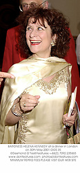 BARONESS HELENA KENNEDY at a dinner in London on 30th May 2001.OOS 35