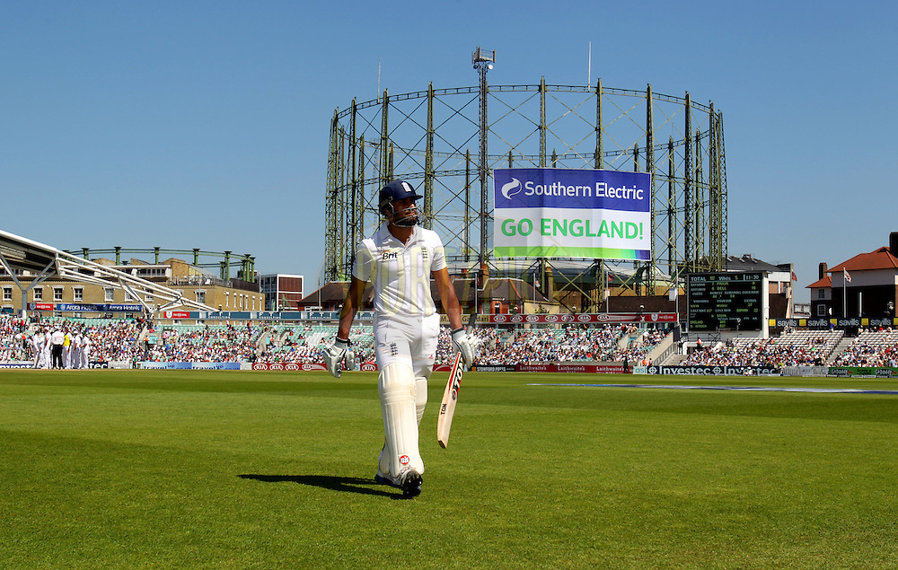 England's Ravi Bopara leaves the field out for 22 on the final day England v South Africa - 1st Investec Test Match -  Day 5 - The Oval  - London - 23/07/2012..Andrew Fosker / Seconds Left Images