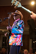 Little Freddie King performs during the 100th performance of the Abita Springs Opry at Abita Springs Town Hall on September 21, 2019; photo ©2019, George H. Long