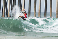 Huntington Beach, CA - August 06: Patrick Gudauskas competes in the mens quarter finals heat at the Vans US Open of Surfing in Huntington Beach, California on August 6th, 2017. (Photo Jim Kruger/Kruger-images.com)