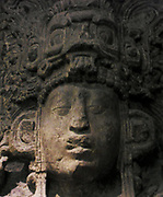 Cast of Stele from the Mayan Plaza at Copan in Honduras. 400-850 AD