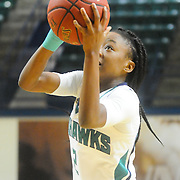 UNCW's Brie Mobley shoots against Towson Sunday January 25, 2015 at Trask Coliseum. (Jason A. Frizzelle)