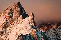 Teewinot Mountain at sunrise in Grand Teton National Park