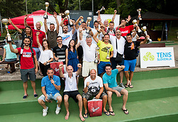 Group photo after the Tennis tournament for amateurs organised by Tenis Slovenija,  on June 24, 2017 in Tivoli, Ljubljana, Slovenia. Photo by Vid Ponikvar / Sportida