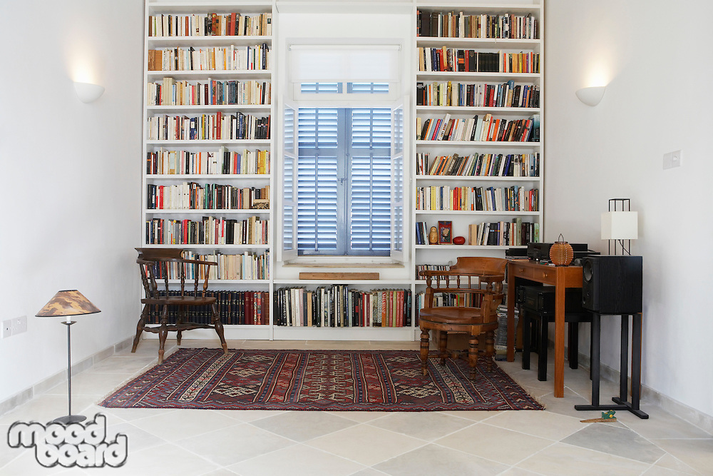 Cyprus library of restored Mediterranean town house