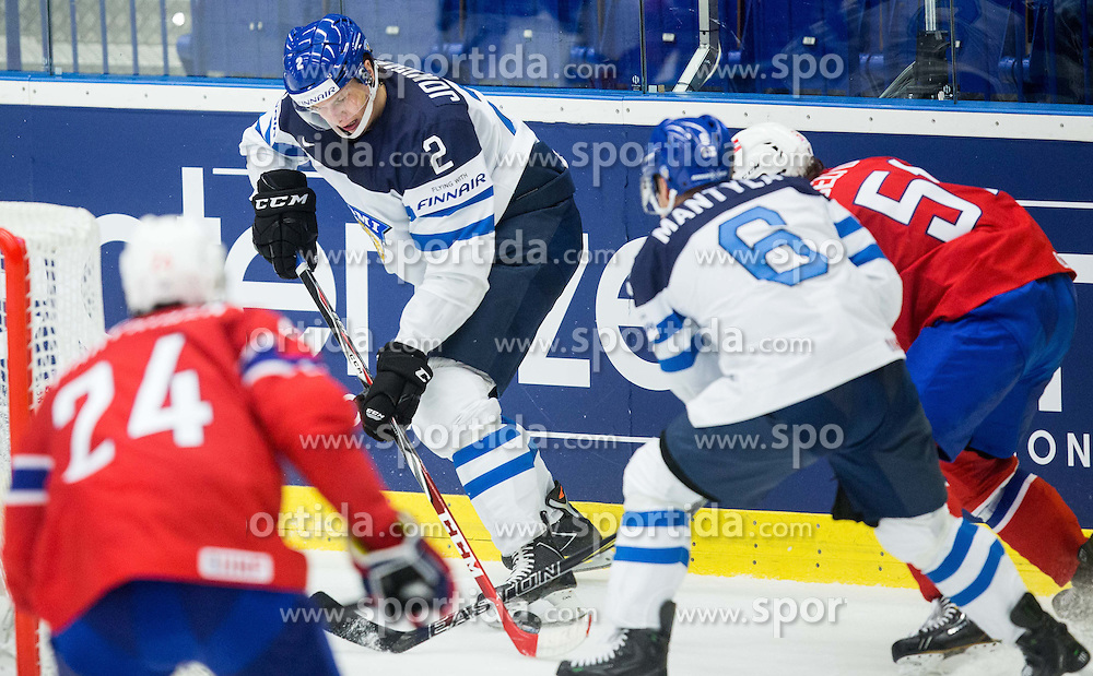 Jyrki Jokipakka of Finland during Ice Hockey match between Norway and Finland at Day 4 in Group B of 2015 IIHF World Championship, on May 4, 2015 in CEZ Arena, Ostrava, Czech Republic. Photo by Vid Ponikvar / Sportida