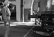 Rangering av lok i driftverkstaden Hagalund