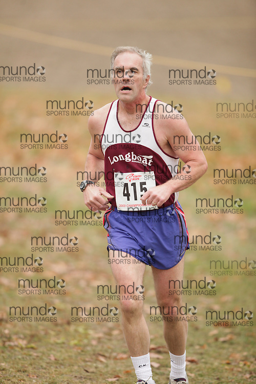 King City, Ontario ---09-11-15--- Bill Prest of the Longboat Roadrunners competes at the Athletics Ontario Cross Country Championships in King City, Ontario, November 16, 2009..GEOFF ROBINS Mundo Sport Images
