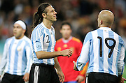 Argentina's Martin Demichelis dejected  during the international friendly match between Spain and Argentina in Madrid, Spain on November 14 2009.